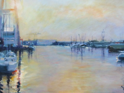 Haven van vlissingen, 80 x 50 cms
